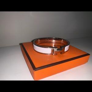 Hermes H Clic Clac White Bracelet